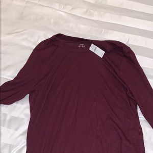 Maroon long sleeve shirt